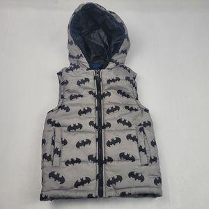 Kids grey Batman puffer vest